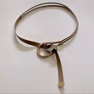 White House Black Market Looped Knot Belt Tan